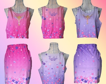 Magical Girl First Aid Mini Skirts in Pink and Lavender