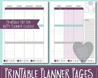 Happy Planner PRINTABLE Weekly Planner Refills / Inserts - 7 x 9.25 | Macaron | Create 365 | Me & My Big Ideas | mambi | Undated