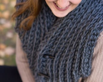 Charcoal Winter Cowl