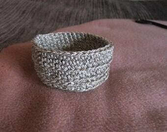 Utensilo Basket Crochet CA 13 x 7 cm/Round