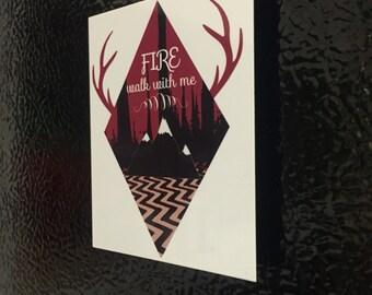 "Twin Peaks Fire Walk With Me 2.5""x3"" High Quality Aluminum Refridgerator Magnet"