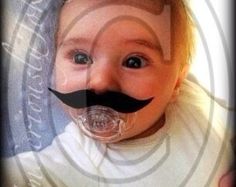 Mustache Pacifier-Baby Mustache-Little Man Party-baby shower gift-The Wise Guy-baby gift-Little man-mustache pacifier-Mustache party