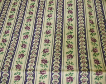 Calico fabric, flowers