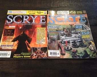 Scrye Magazine Issue -  # 8.2 and #49  -2001, 2002. Used - GREAT SHAPE