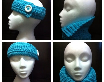 Neck Warmer and Headband Set