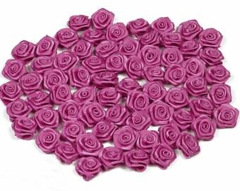 20 heads of 1.50 cm in diameter ref 183D fuchsia pink satin rose