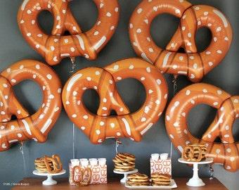 Huge food balloons, pretzel balloon, hamburger balloon, hotdog balloon, photo prop, party balloons, food theme party