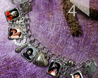 Michael Jackson Charm Bracelet & Necklace
