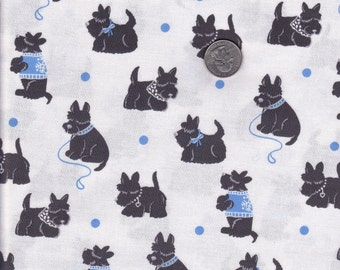 Fat quarter - Bespoke Scotties in Boy - Houndstooth and Friends - Michael Miller cotton quilt fabric