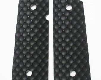 DURAGRIPS - Compact Officer 1911 D-FENCE grips - Black - Beveled