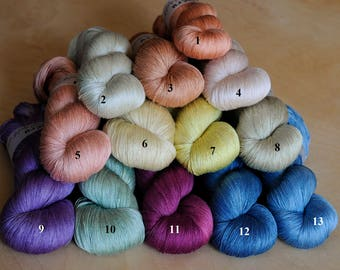 Silk Lace Yarn; 1000 yards; Many Colors to Choose