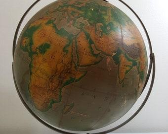 Large 1960s Vintage Pictorial Globe