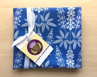 Blue Lupine Flower, Cotton Fabric, Fat Quarter