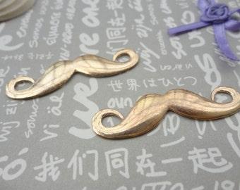 50pcs Gold Base Metal Charms-Mustache charms pendant 44X13mm--Suitable for necklaces and bracelets--CP57