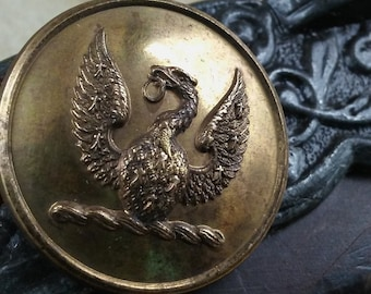 Livery Button, British Livery Buttons, Coat of Arms Buttons, Antique Buttons, BL-23 Family Crest Buttons, Just Grand Buttons, Eagle Buttons