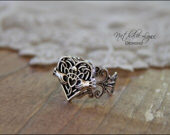 Claddagh Ring, Claddagh Jewelry, Heart Ring, Silver Ring, Statement Ring