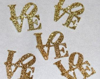 LOVE Glitter Confetti - Bridal Shower Confetti - Wedding Glitter Party Confetti - Square Love Wedding Confetti - Baby Shower Confetti