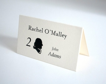 US Presidents - past and present United States Presidents' Silhouettes - Printed Escort Cards with Guest Names and Table assigments