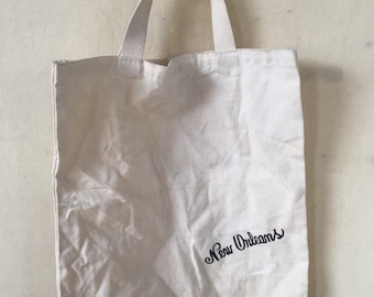 Vintage New Orleans canvas tote bag