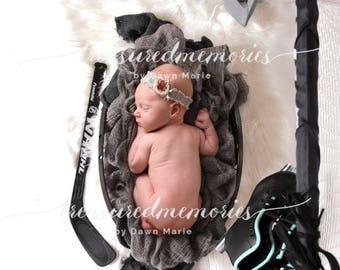 hockey digital prop, digital background, digital art newborn boy ro girl