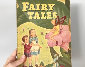 Gorgeous 1944 Fairy Tales Book by Whitman