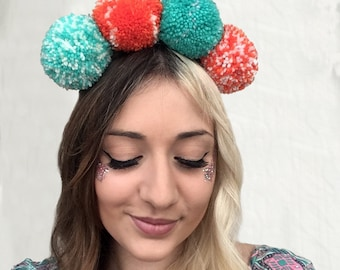 Birds of Paradise - Pompom Headband