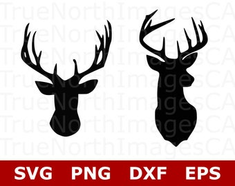 Deer SVG File / Deer Head SVG / Deer Clipart / Deer Head Clipart / Deer Vector / Hunting SVG Files / Svg Files for Cricut / Silhouette