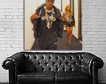 07 Poster Jay Z Canvas & Stretcher Bars Frame