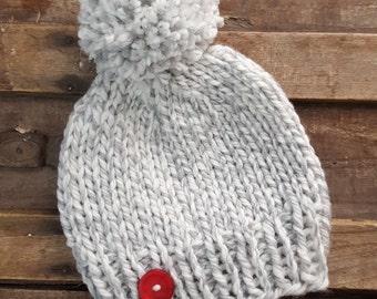 Chunky Knit Pom pom Toque