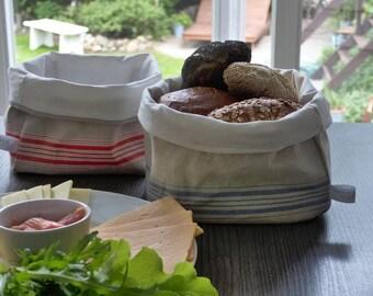 Linen breadbasket * clutter basket * gift basket * rot * large