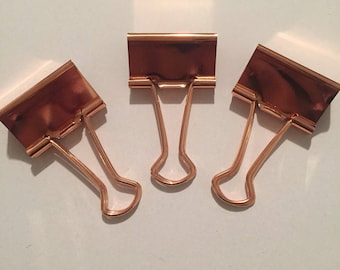 Large Binder Clips - set of 3