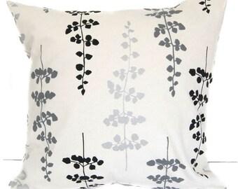 Pillow Cover, Pillow Sham, Cushion Cover, black gray silver ivory throw pillow cover home decor