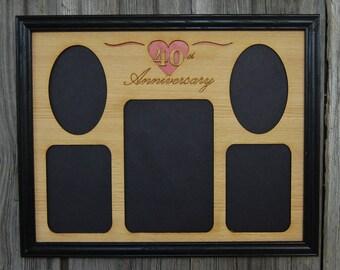 11x14 40th Anniversary Picture Frame, 40th Anniversary Gift, Wedding Anniversary, Personalized Picture Frame, Custom Photo Frame
