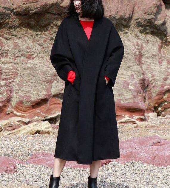 Winter Winter Cape Double Wool loose Coat Wool Size Jacket Coat Any Women Wool Women's Wool Face style Wool Coat Jackets Coat wn4qvAI48x
