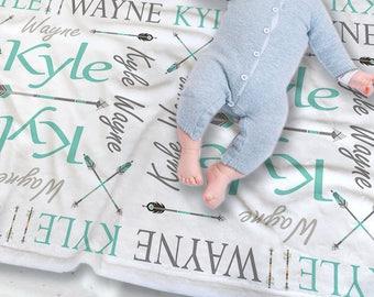 Arrow Baby Blanket - Aztec Baby Blanket - Arrow Baby Bedding - Tribal Baby Blanket - Woodland Baby Bedding - Baby Boy Blanket - Arrows Baby