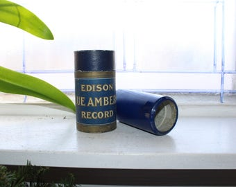 Antique Edison Cylinder Record 2953 There's A Quaker Down In Quaker Town