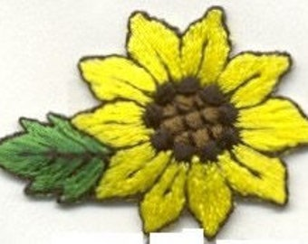 SUNFLOWER flower iron on patch