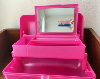 Vintage 90s Hot Pink Caboodle/Girls Makeup Case/Pi k Caboodle/90s/90s Caboodle/Makeup Storage/Hot Pink Caboodle