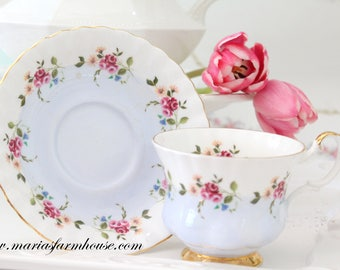 Vintage, English Bone China Tea Cup & Saucer by Royal Albert, Replacement China, Tea Party
