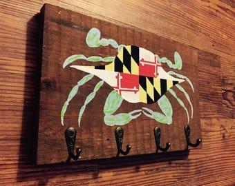 Maryland Crab Key Holder