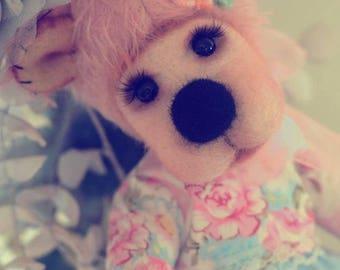 Cute hand made teddy bear Traditional teddy bears Plush Artist teddy bear Handmade collectible