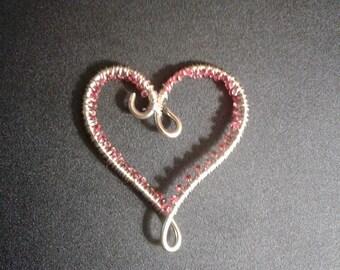 Wire Beaded Heart