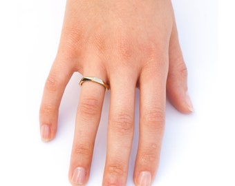 Yellow Gold Facet Ring. Delicate Ring, Facet Wedding Band Ring, Gold Facet Ring, Men's Wedding Ring, 14k, 18K, Solid Gold, Women's Ring