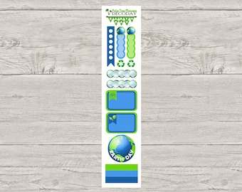 DECODAYS Earth Day Planner Stickers