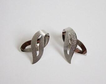 VINTAGE Earrings 1960s Silver Earrings Sarah Coventry Clip Ons