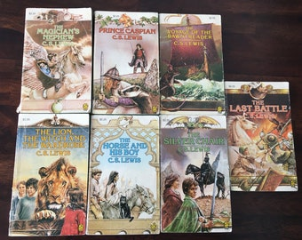 C.S. Lewis Chronicles Of Narnia Book Set 1980 (7 books)