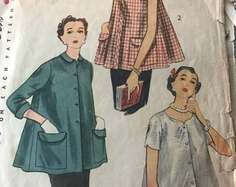 Vintage 50s Simplicity 4192 Maternity Top-Size 14 (32-26 1/2-35)