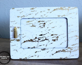 Gold Marble Themed Frame