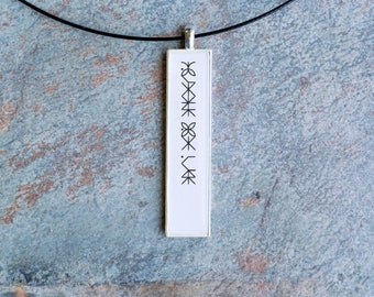 Eating Disorder Survivor Bulimia Recovery Awareness Statement Pendant for Women who have fought or are fighting this eating disorder