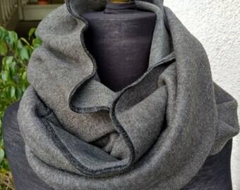 Fleece Infinity Scarf / Chunky Fleece Cowl / Circular Scarf / Shawl